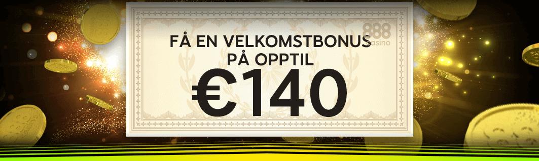 888 Casino velkomstbonus