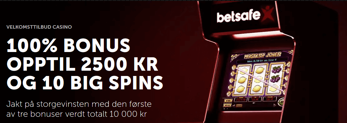 Betsafe casinobonus for nye spillere