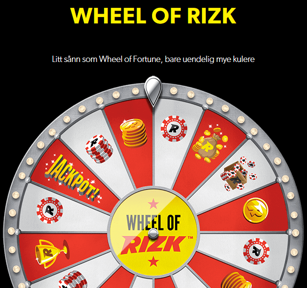 Wheel of Rizk lykkehjul