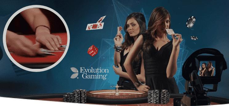 Evolution Gaming Live Casino hos Spinia