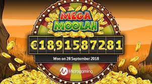 Mega Moolah progressiv jackpot
