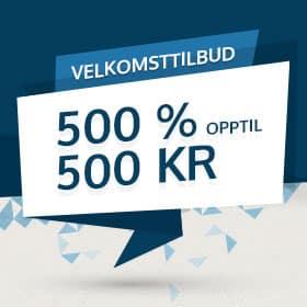 Få 500% mer å spille for hos NorgesSpill