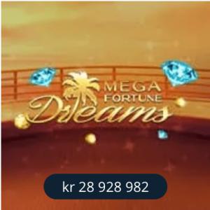 Betsson velkomstbonus – få 200 free spins på Mega Fortune Dreams