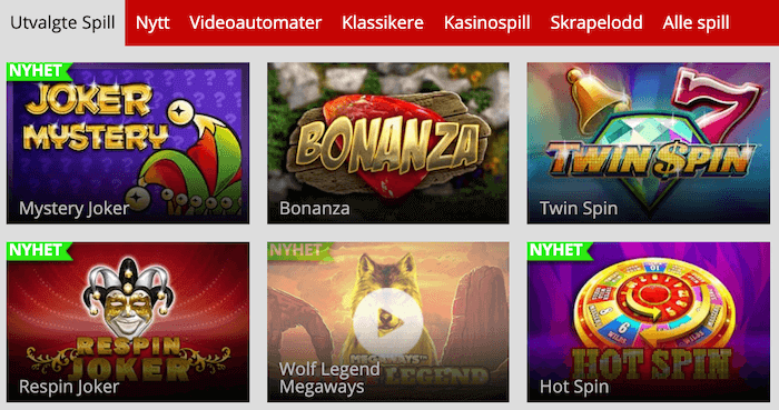 Spilleautomater hos MagicRed Casino