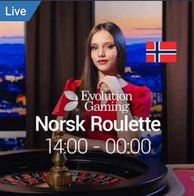 Norsk Roulette fra Evolution Gaming