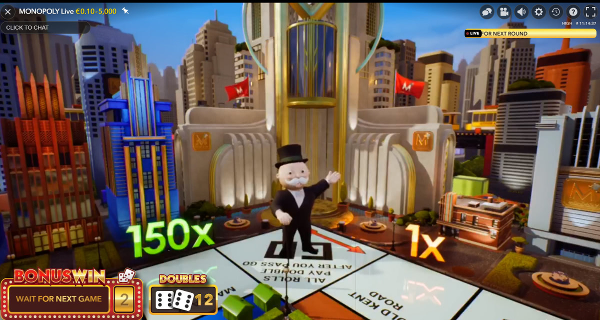 live casino monopoly norske
