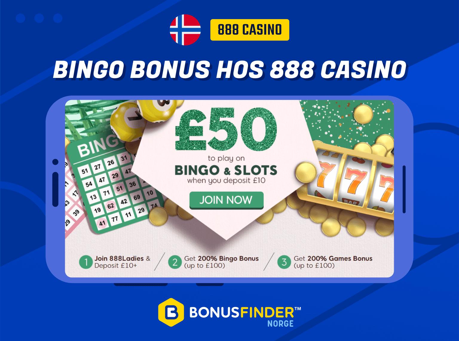 888 bingo bonus