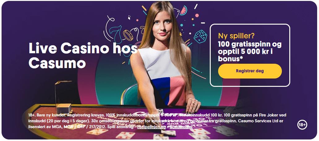 casumo live casino bonus