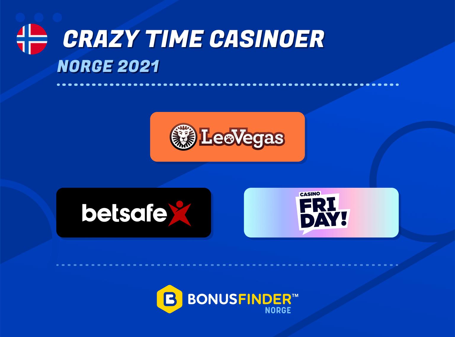 crazy time casinoer