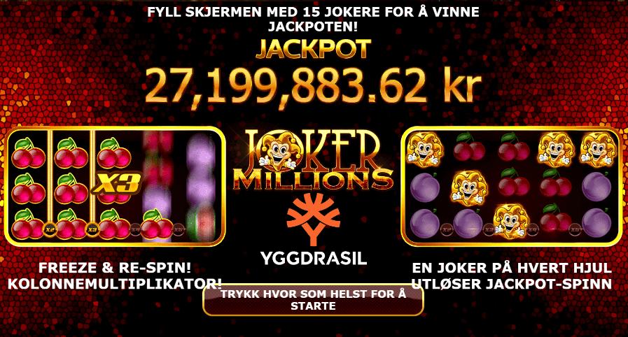 jackpotspill joker millions