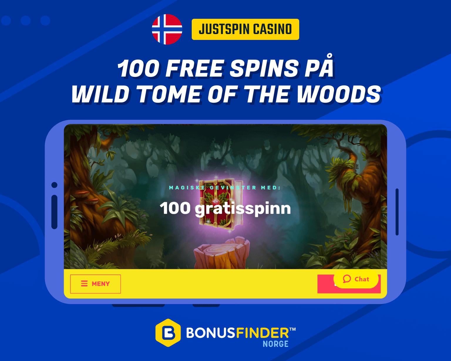 100 ekstra spins