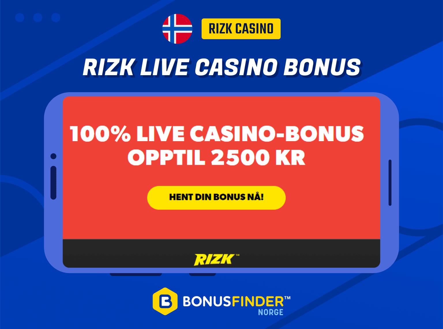 rizk casino live bonus