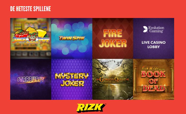 rizk casino spill
