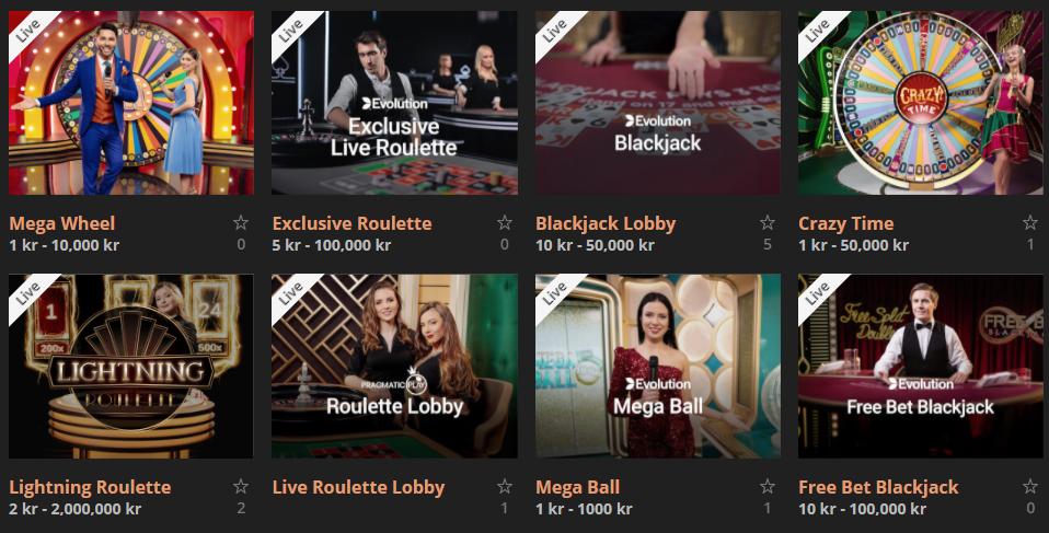 storspiller live casino