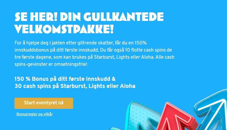 norske bonus velkomstpakke